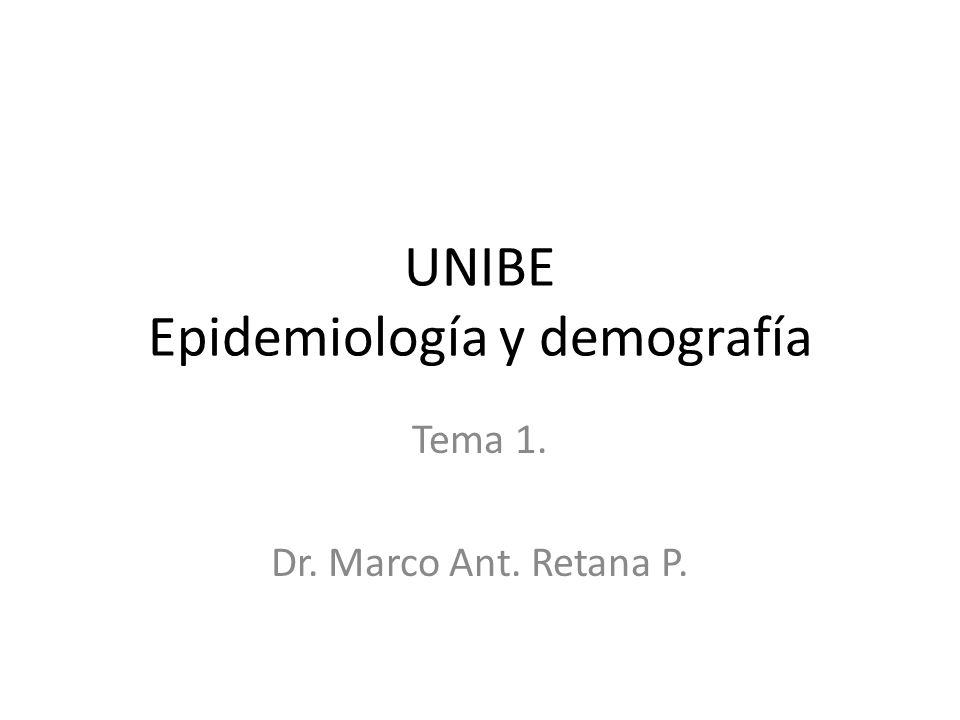 UNIBE Epidemiología y demografía