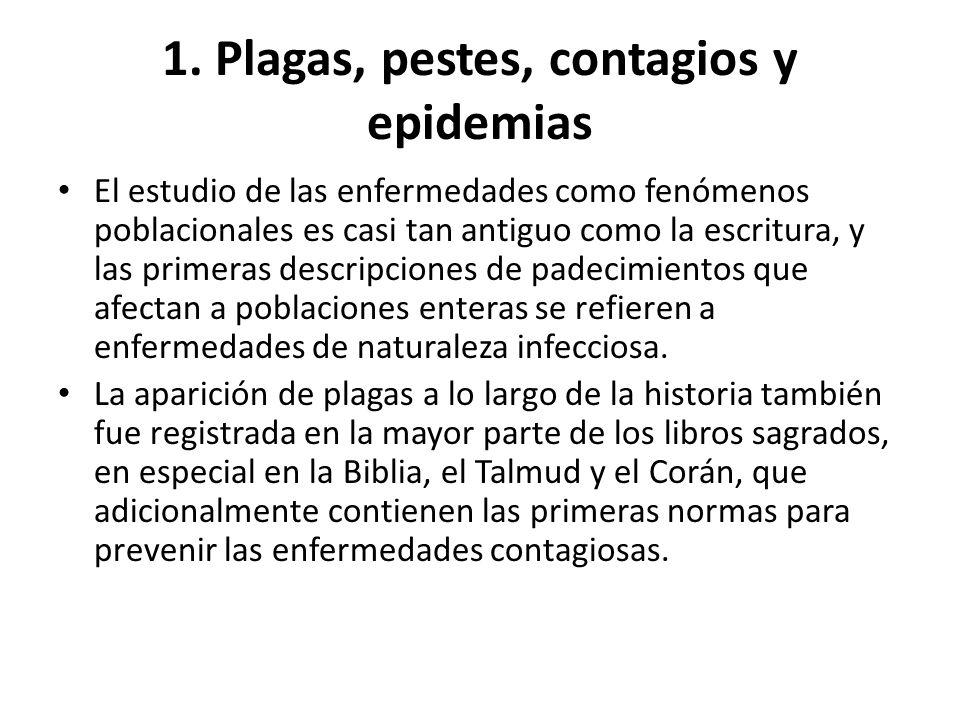 1. Plagas, pestes, contagios y epidemias