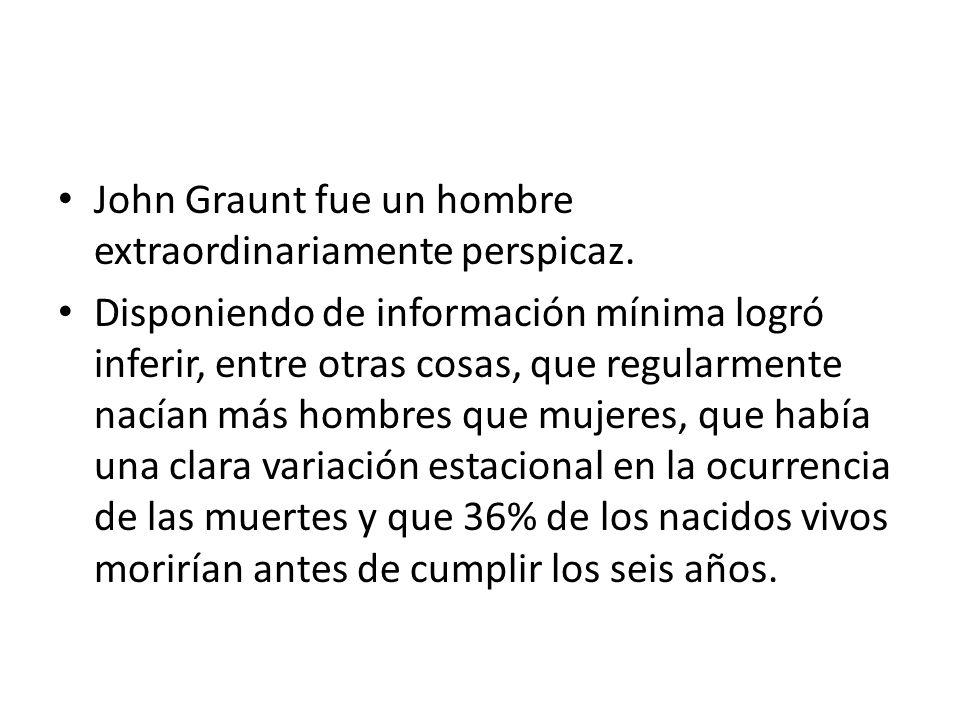 John Graunt fue un hombre extraordinariamente perspicaz.