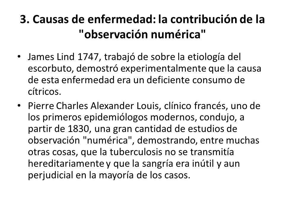 3. Causas de enfermedad: la contribución de la observación numérica