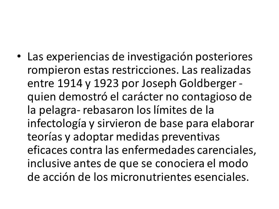 Las experiencias de investigación posteriores rompieron estas restricciones.