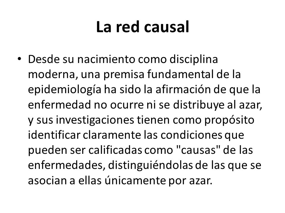 La red causal