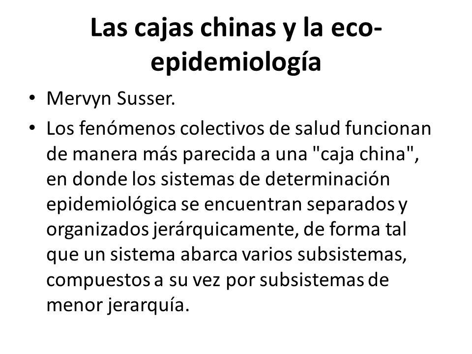 Las cajas chinas y la eco-epidemiología