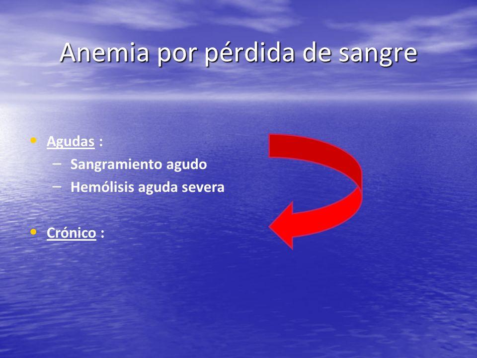 Anemia por pérdida de sangre