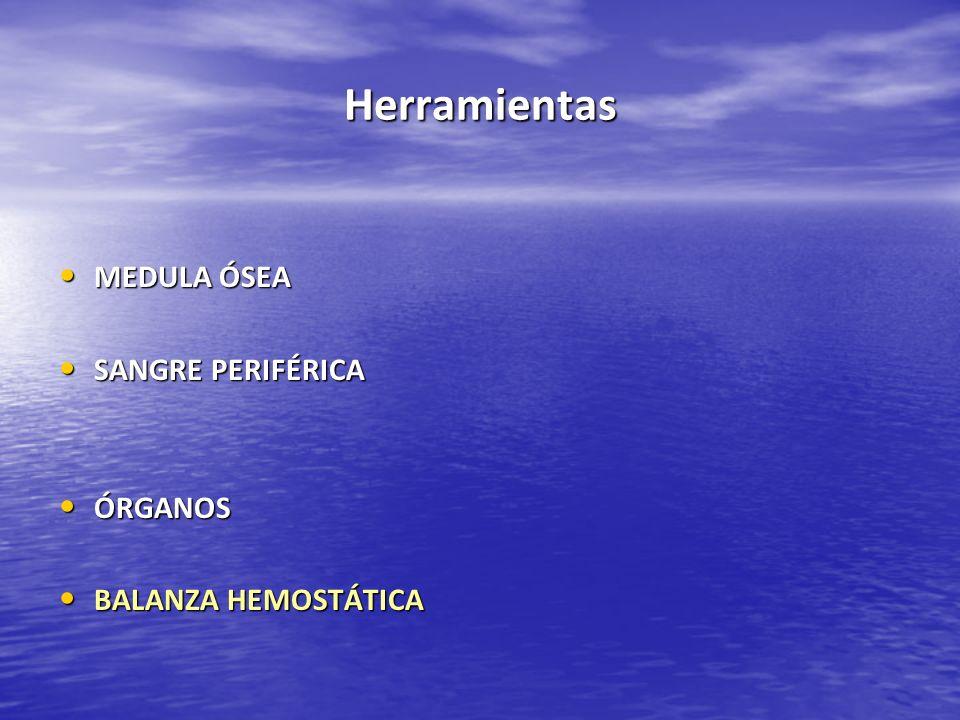 Herramientas MEDULA ÓSEA SANGRE PERIFÉRICA ÓRGANOS BALANZA HEMOSTÁTICA