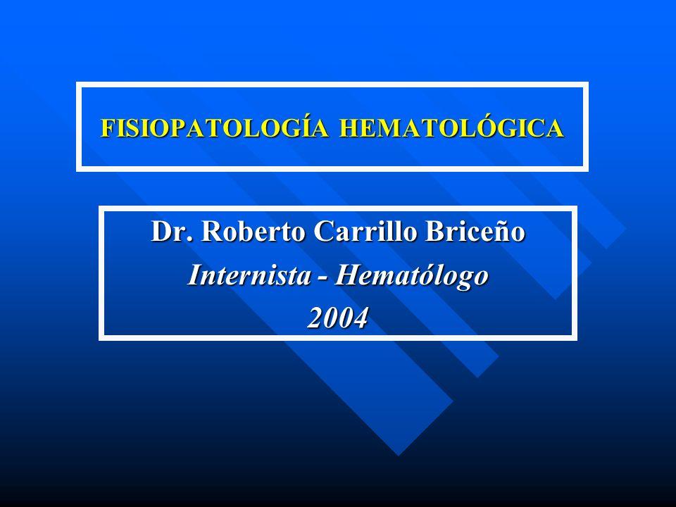 FISIOPATOLOGÍA HEMATOLÓGICA