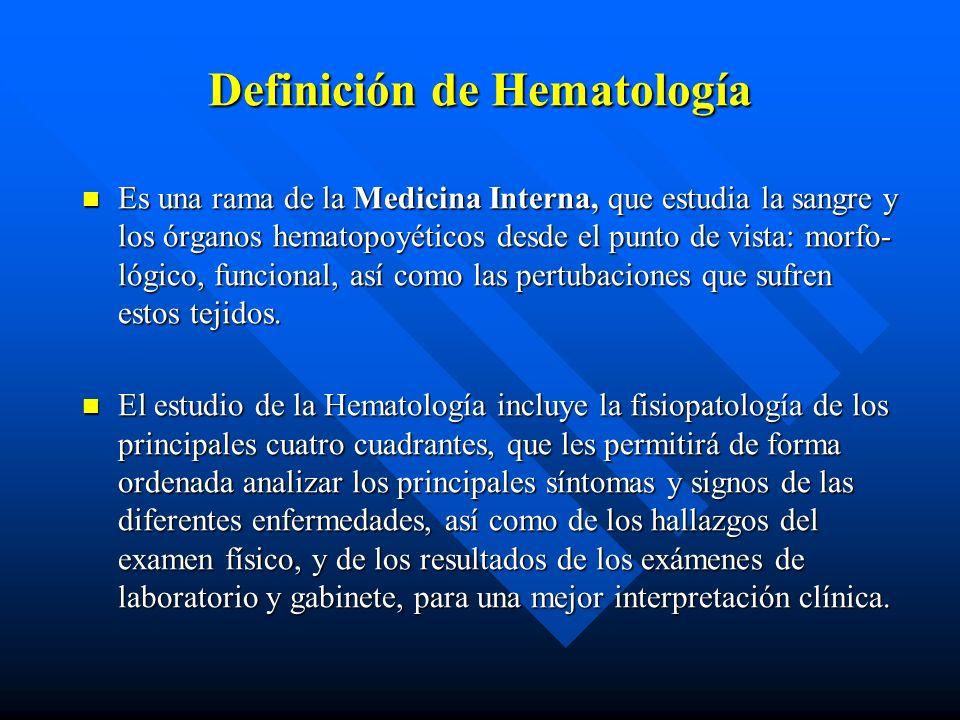 Definición de Hematología