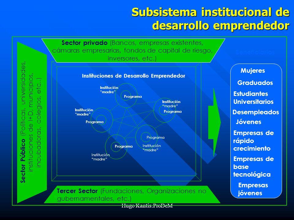 Subsistema institucional de desarrollo emprendedor