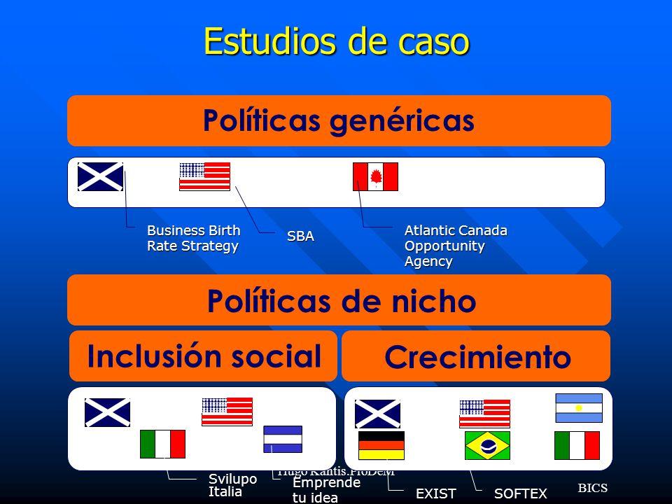 Estudios de caso Políticas de nicho Inclusión social Crecimiento