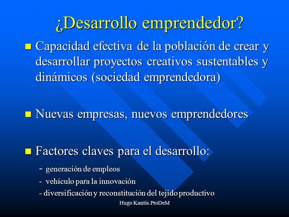 ¿Desarrollo emprendedor