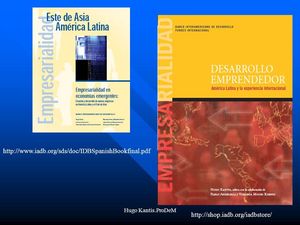 http://www.iadb.org/sds/doc/IDBSpanishBookfinal.pdf Hugo Kantis.ProDeM.
