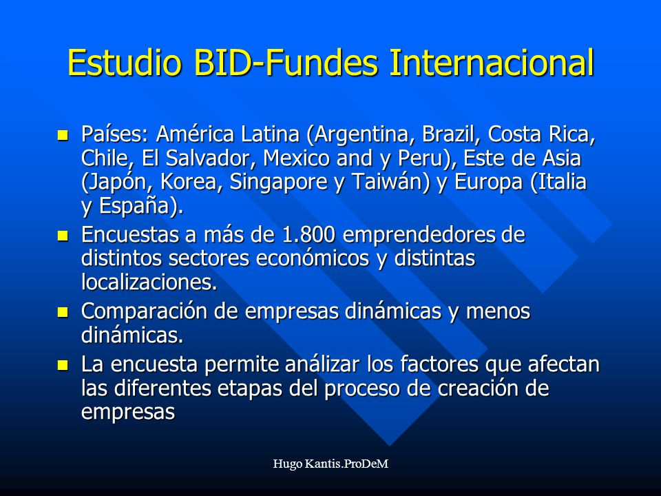 Estudio BID-Fundes Internacional