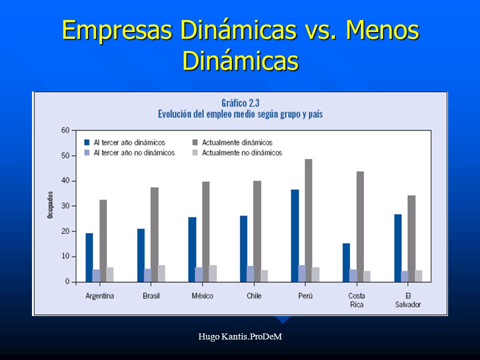 Empresas Dinámicas vs. Menos Dinámicas