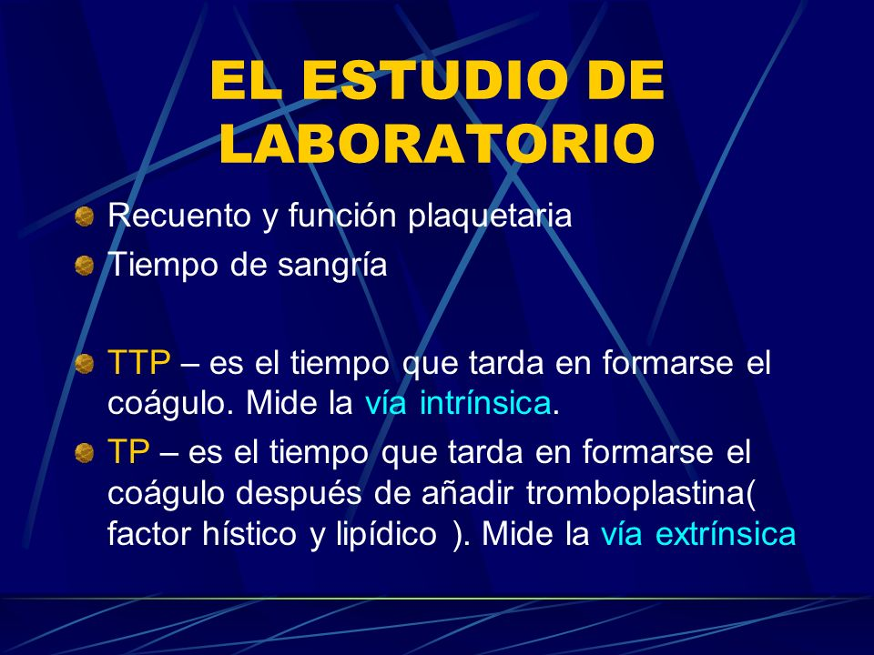 EL ESTUDIO DE LABORATORIO