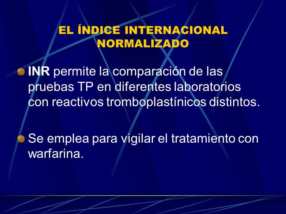 EL ÍNDICE INTERNACIONAL NORMALIZADO