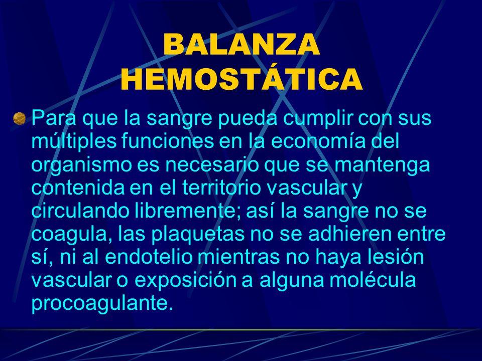 BALANZA HEMOSTÁTICA