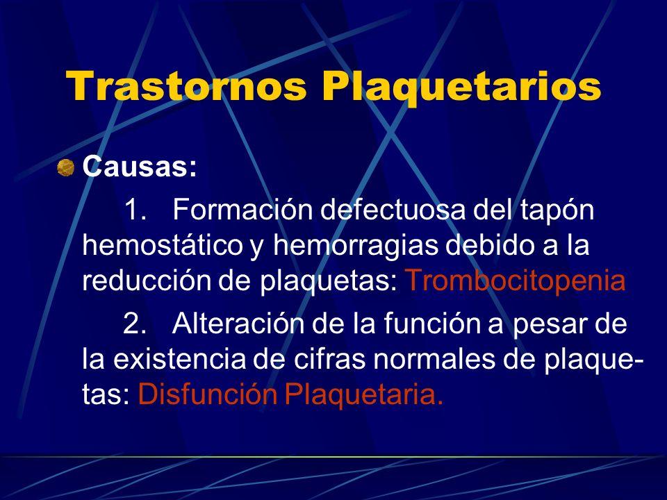 Trastornos Plaquetarios