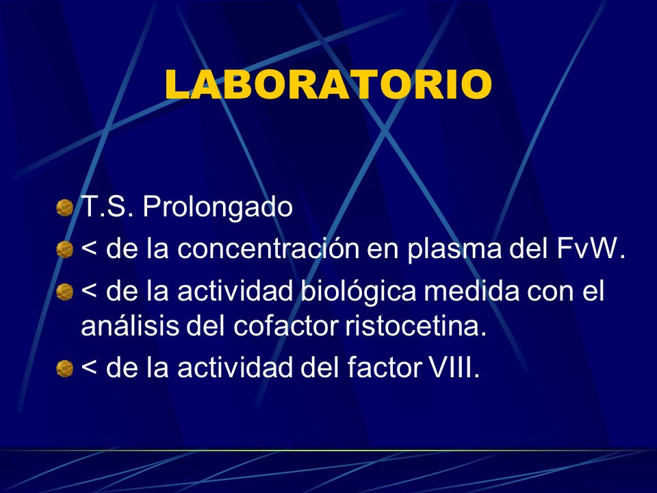 LABORATORIO T.S. Prolongado