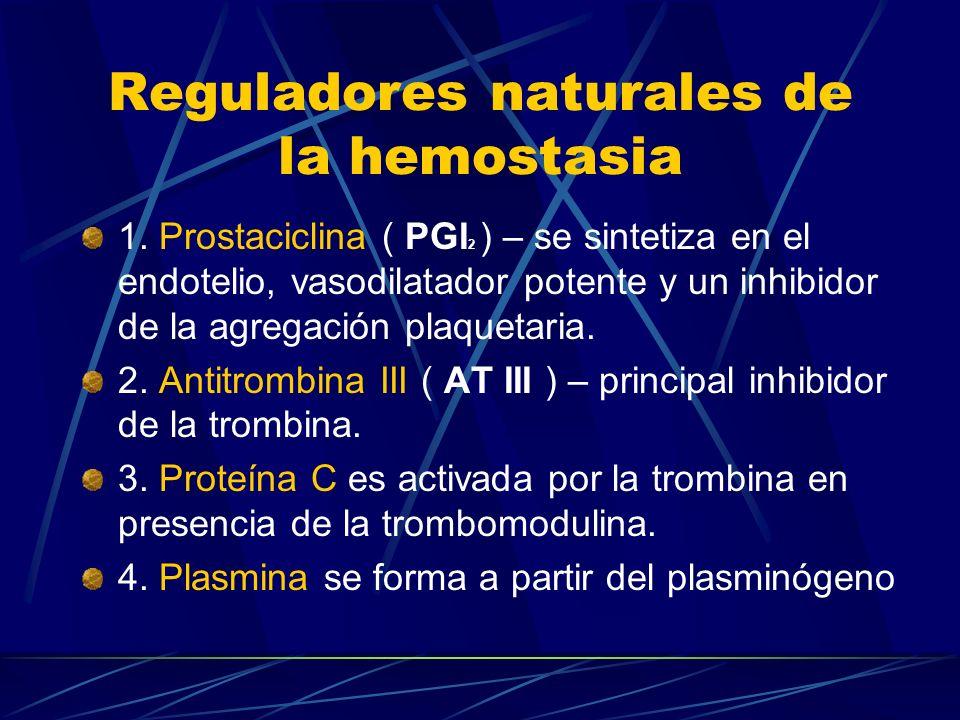 Reguladores naturales de la hemostasia