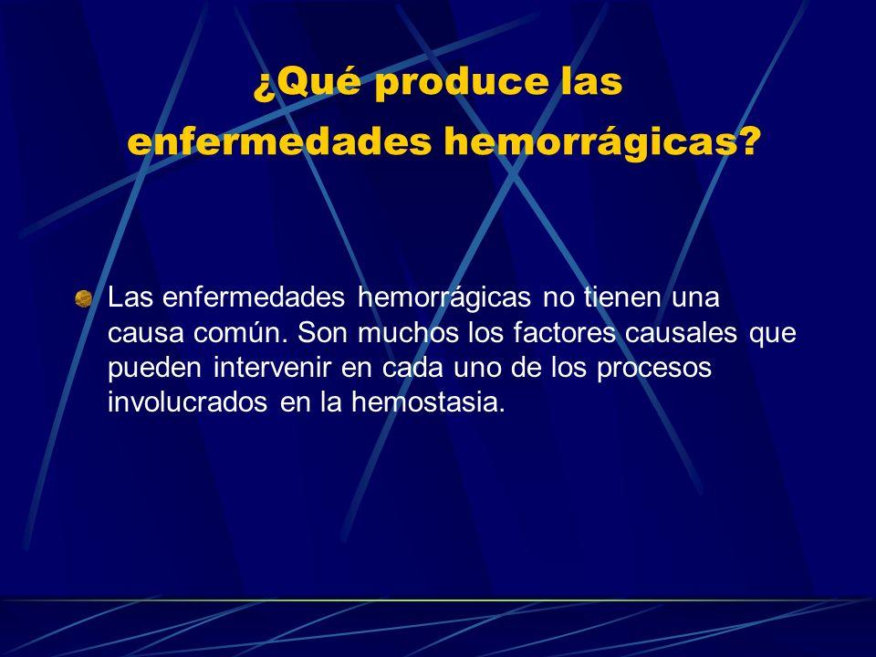 ¿Qué produce las enfermedades hemorrágicas