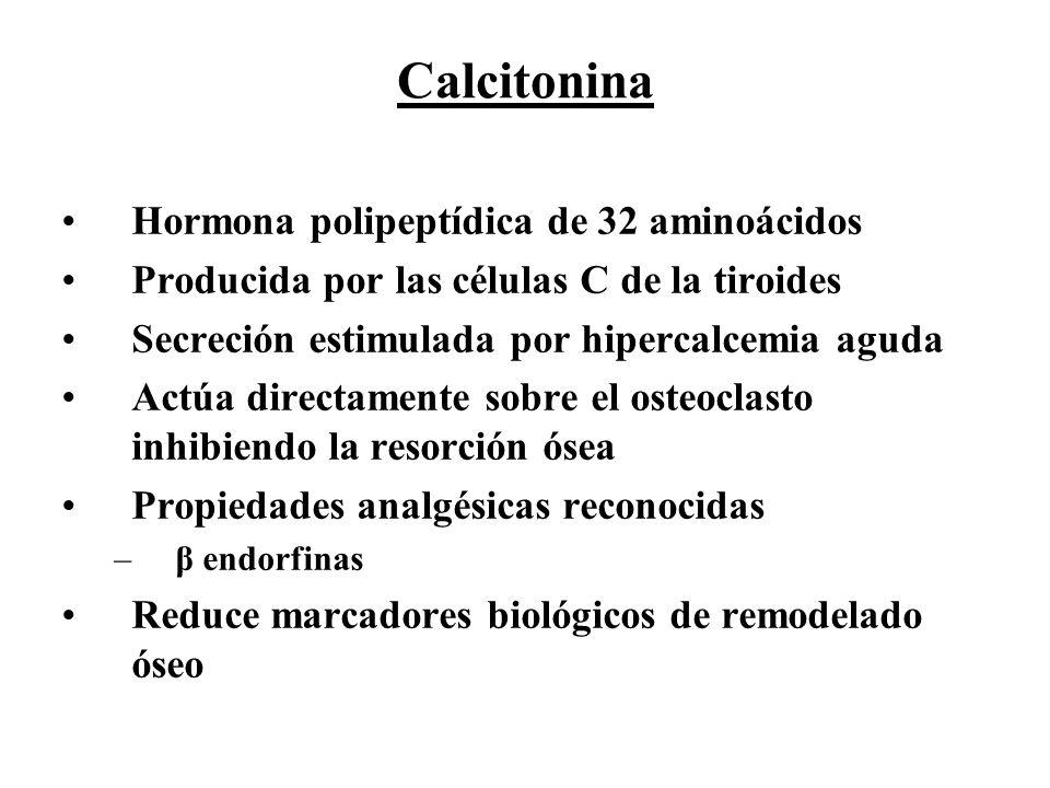 Calcitonina Hormona polipeptídica de 32 aminoácidos