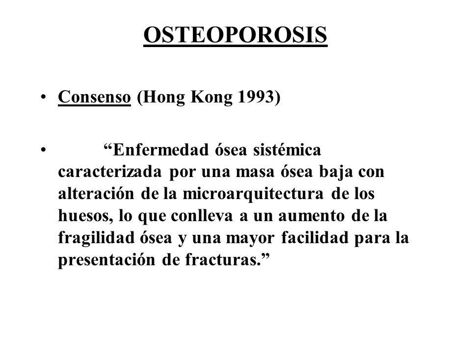 OSTEOPOROSIS Consenso (Hong Kong 1993)