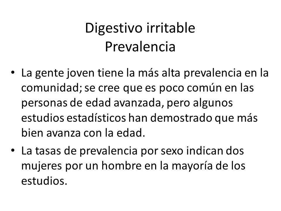 Digestivo irritable Prevalencia