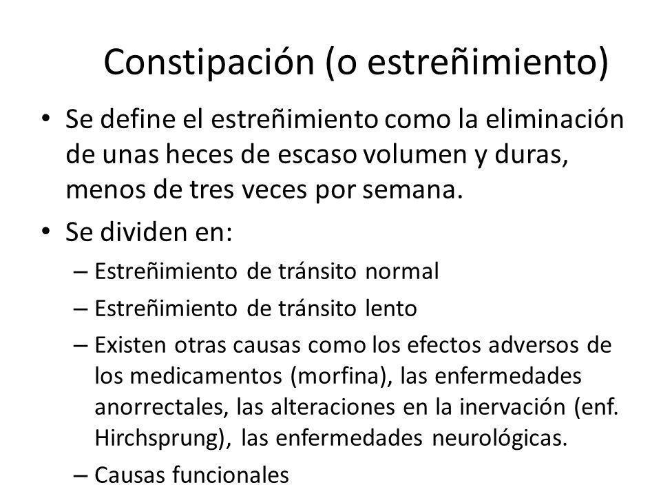 Constipación (o estreñimiento)