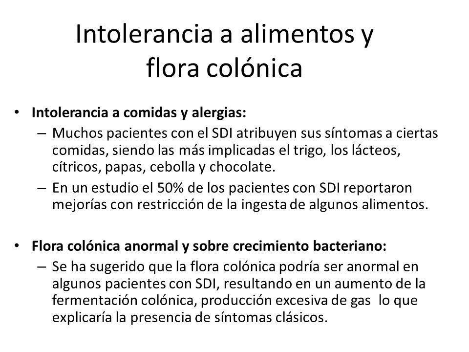 Intolerancia a alimentos y flora colónica