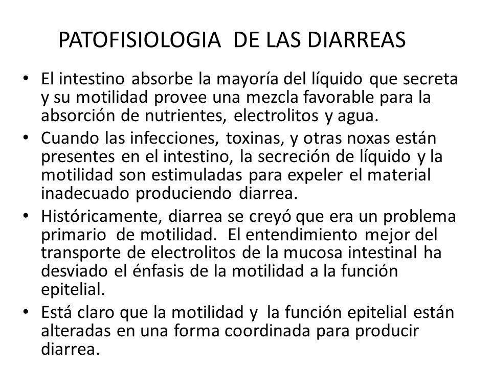 PATOFISIOLOGIA DE LAS DIARREAS