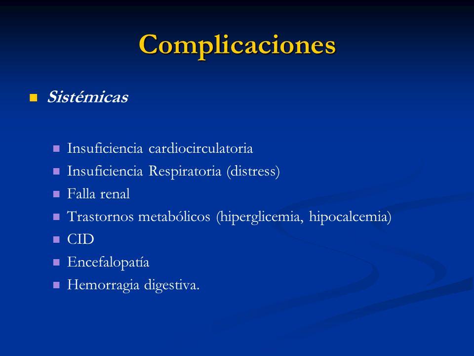 Complicaciones Sistémicas Insuficiencia cardiocirculatoria