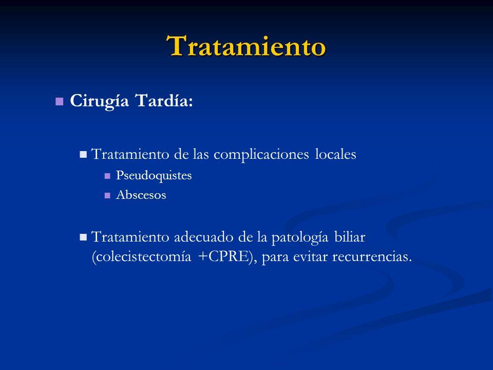 Tratamiento Cirugía Tardía: Tratamiento de las complicaciones locales