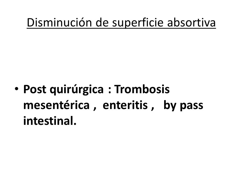 Disminución de superficie absortiva