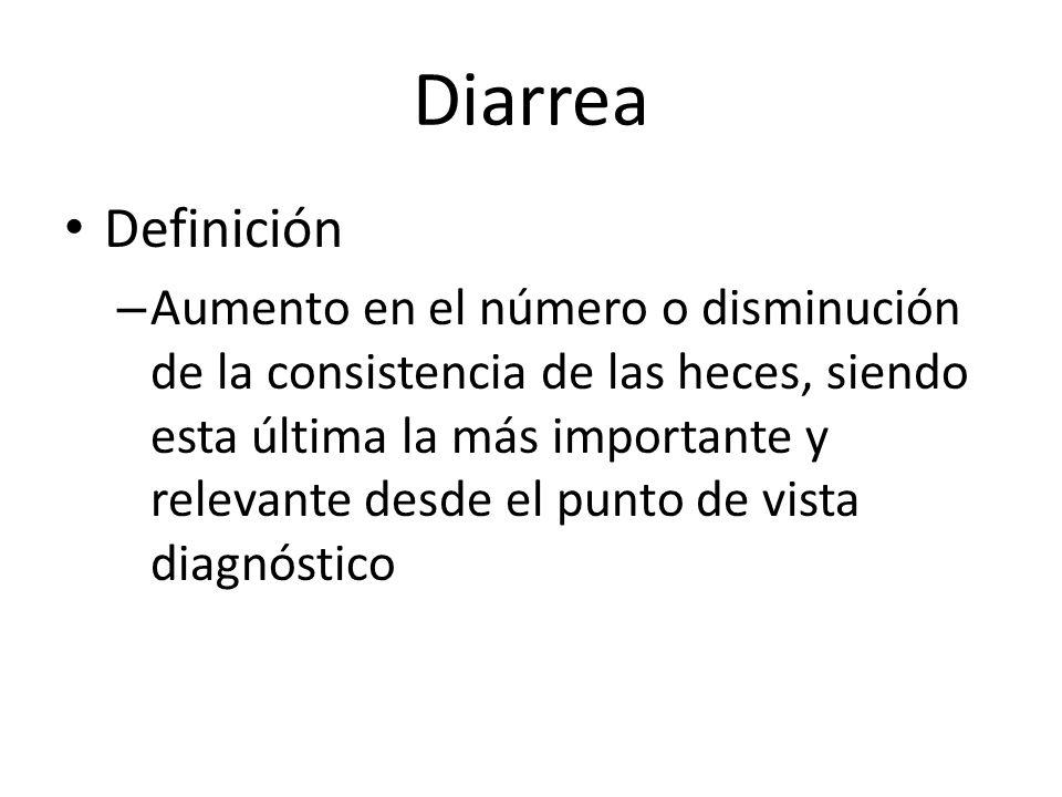 Diarrea Definición.