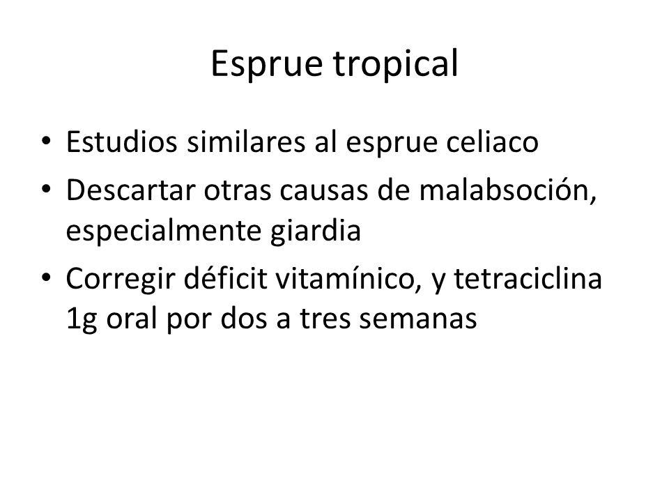 Esprue tropical Estudios similares al esprue celiaco