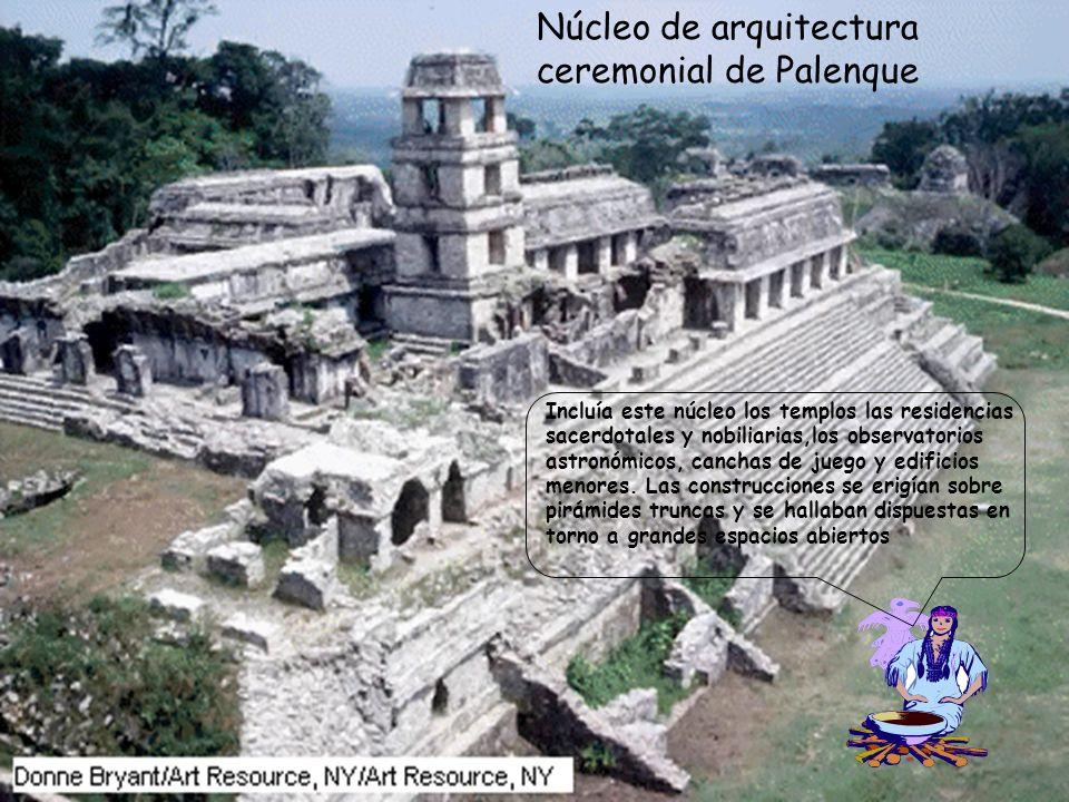 Núcleo de arquitectura ceremonial de Palenque