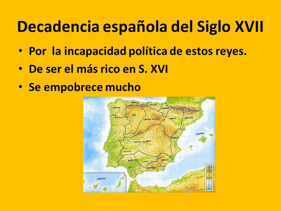 Decadencia española del Siglo XVII