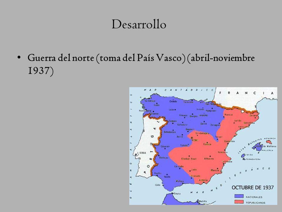 Desarrollo Guerra del norte (toma del País Vasco) (abril-noviembre 1937)