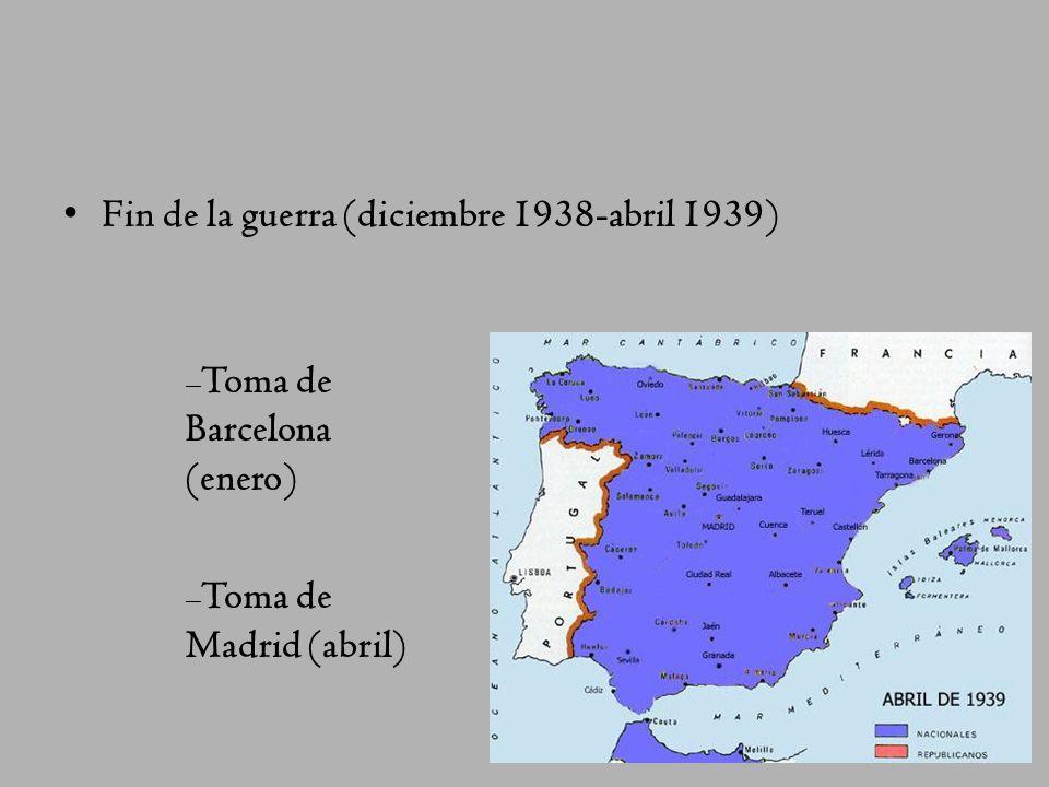 Fin de la guerra (diciembre 1938-abril 1939)