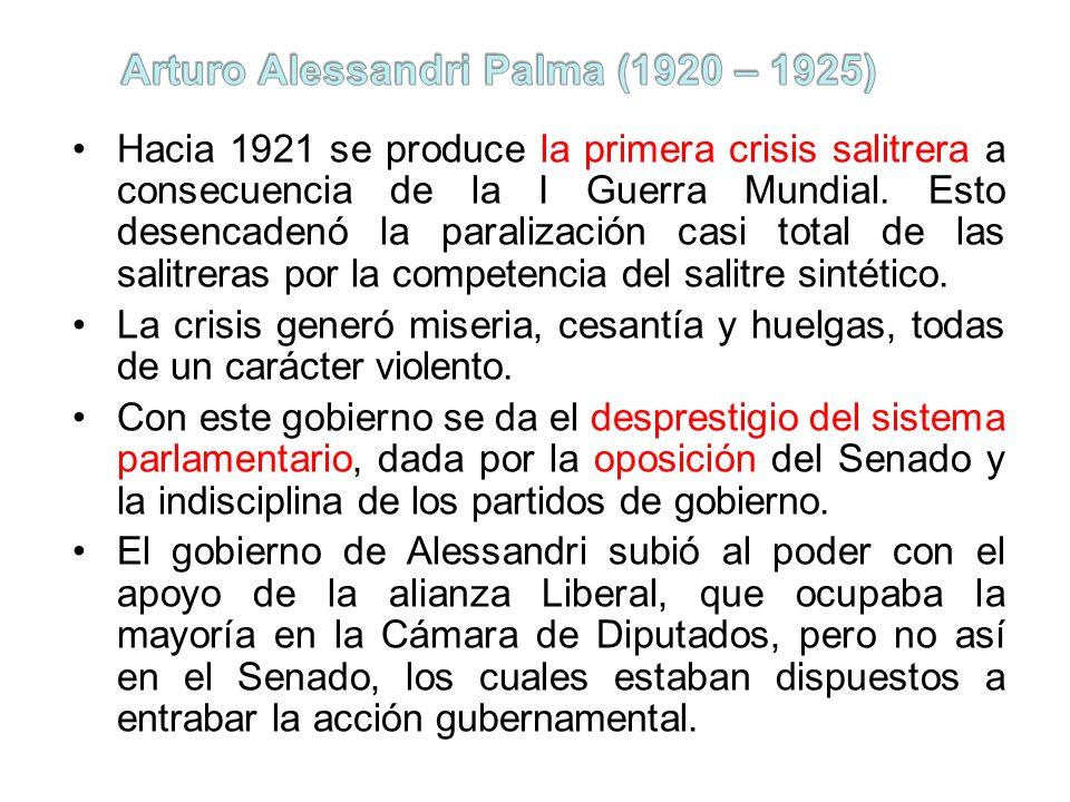 Arturo Alessandri Palma (1920 – 1925)