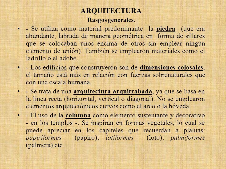 ARQUITECTURA Rasgos generales.