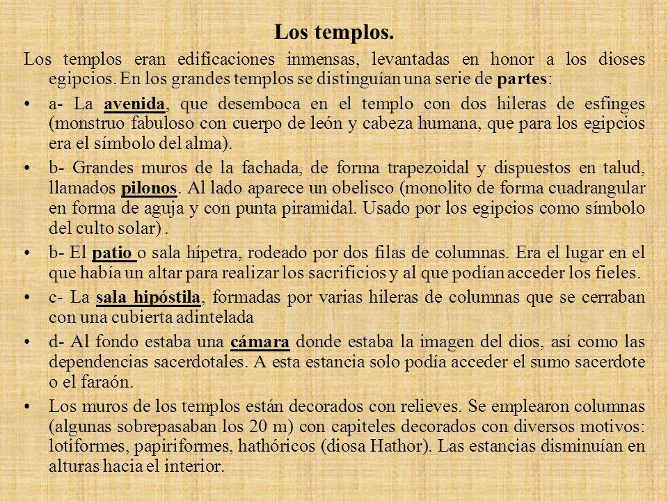 Los templos.