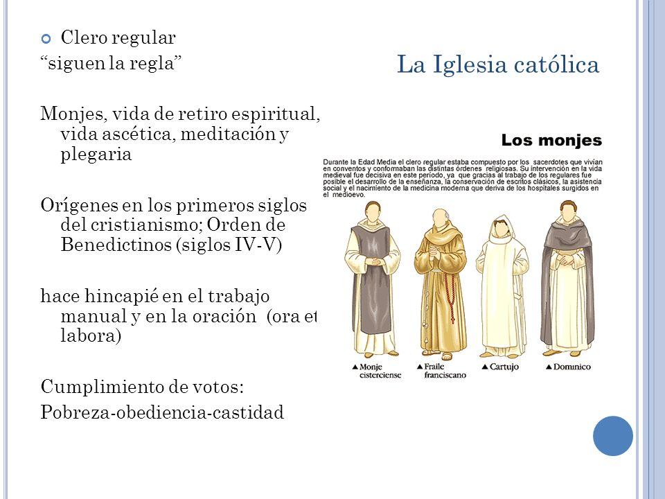 La Iglesia católica Clero regular siguen la regla