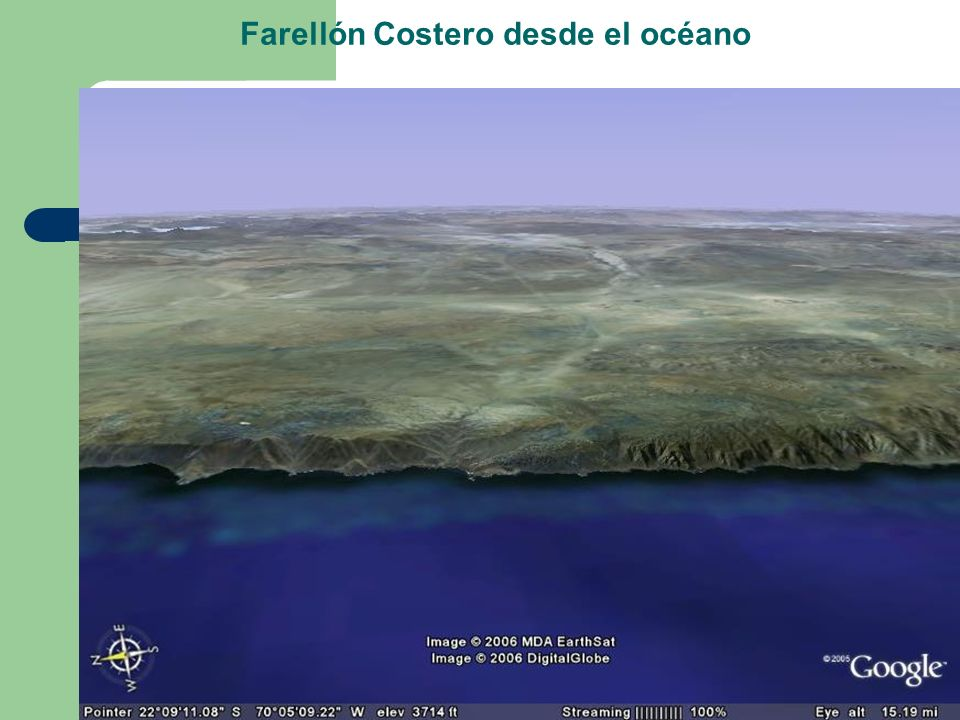 Farellón Costero desde el océano
