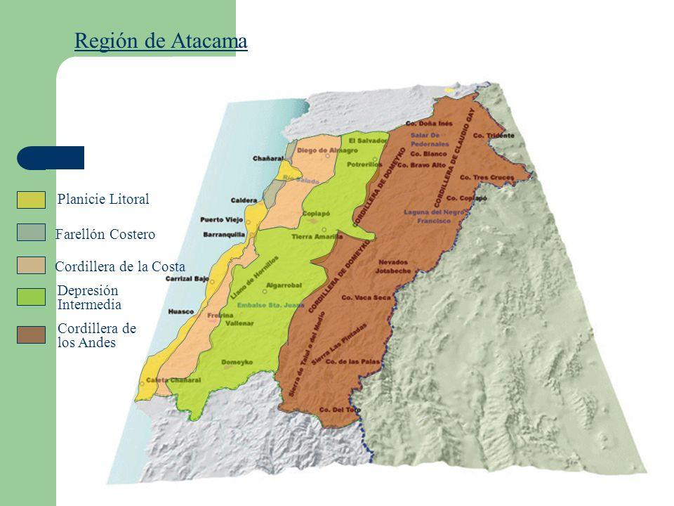 Región de Atacama Planicie Litoral Farellón Costero