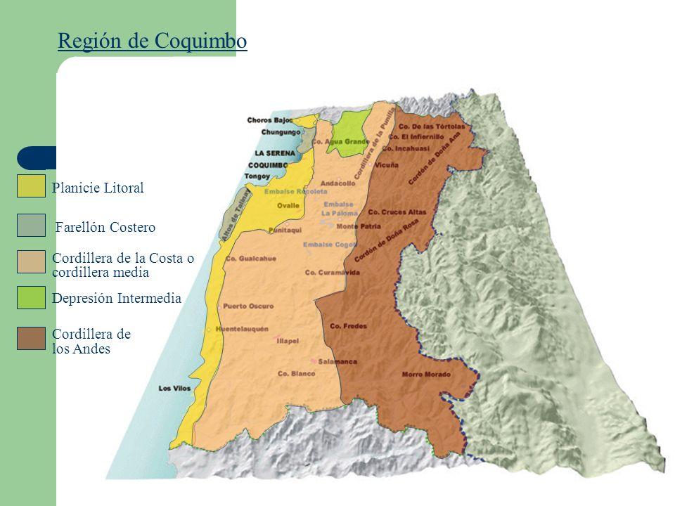 Región de Coquimbo Planicie Litoral Farellón Costero