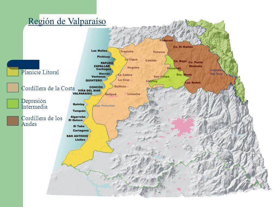 Región de Valparaíso Planicie Litoral Cordillera de la Costa