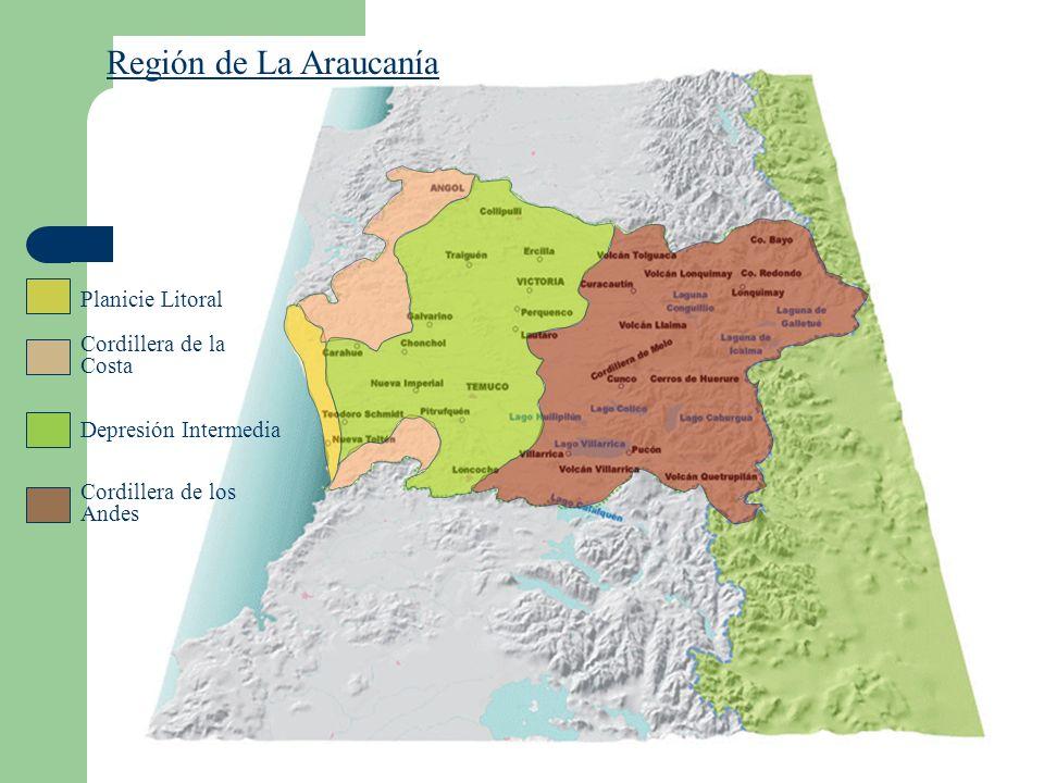 Región de La Araucanía Planicie Litoral Cordillera de la Costa