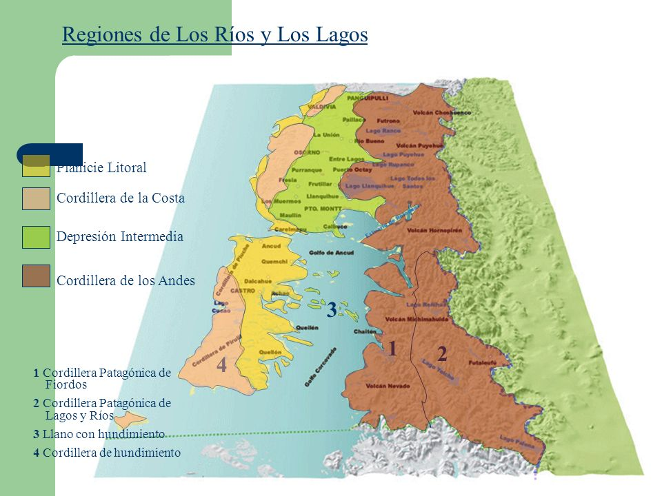 Regiones de Los Ríos y Los Lagos