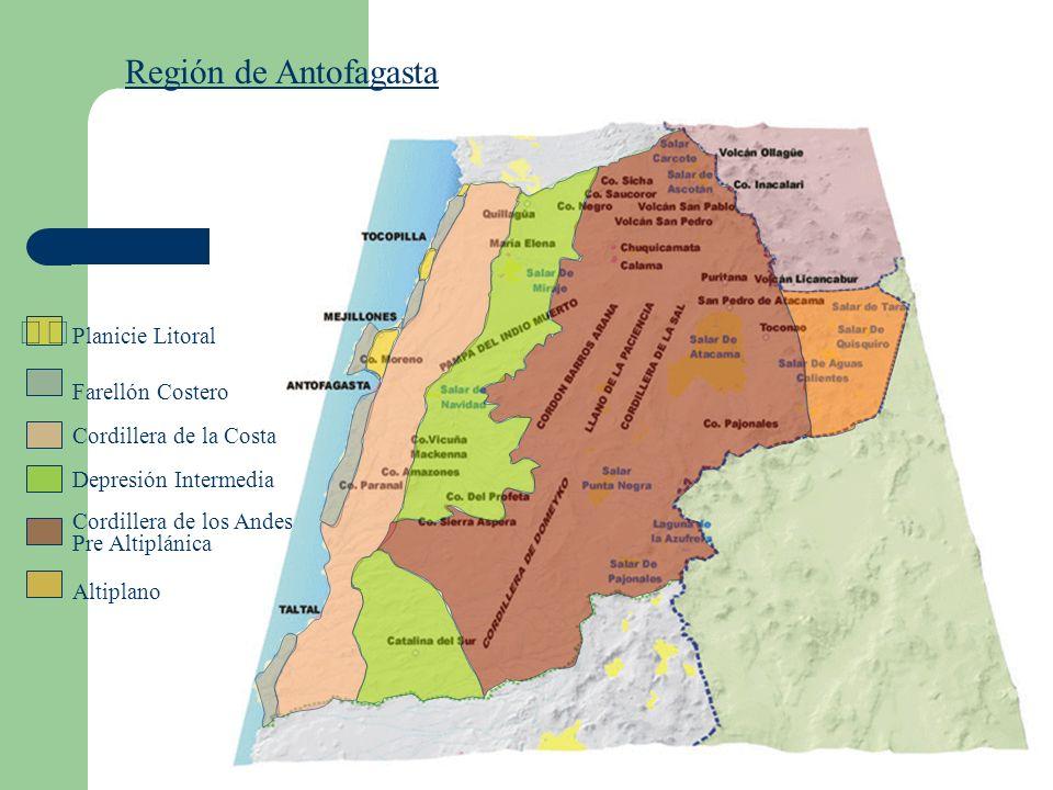 Región de Antofagasta  Planicie Litoral Farellón Costero